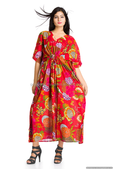 New Boho Gypsy Caftan Kaftan Women s Floral Red Cocktail Bikini Cover Beach  Cover Up Maxi Long 4db57b9e7