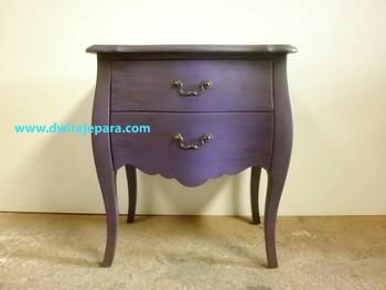 Indonesia Painted Bedroom Furniture Velvet Purple Antique Nightstands  Mahogany - Buy Bedroom Furniture,Indonesia Painted Bedroom Furniture,Wooden  ...