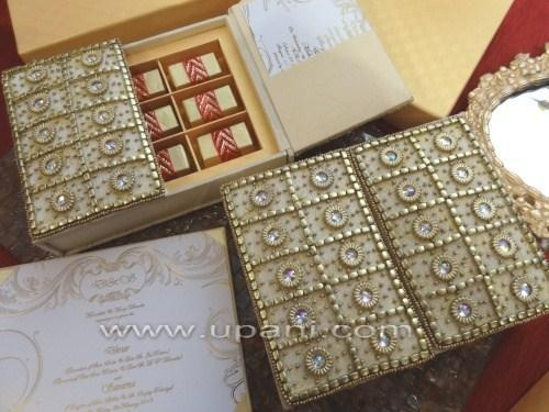 Wedding Invitation Box With Stunning Hand Embroidery Buy Luxurious