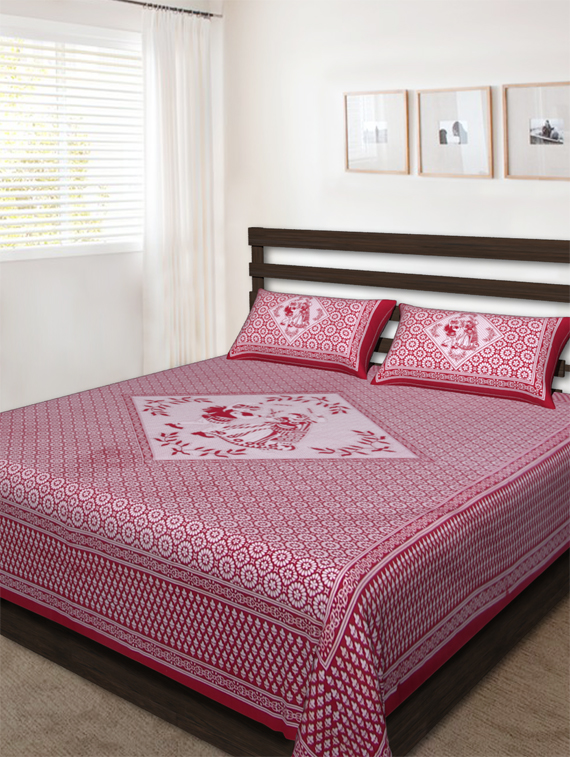 100% cotton bedsheet flat sheet wholesale duvet covers bed spread by The Handicraft House BH-274