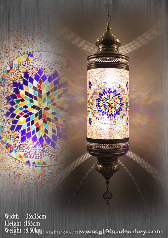 Cylinder Hanging Lighting Mosaic Lamp