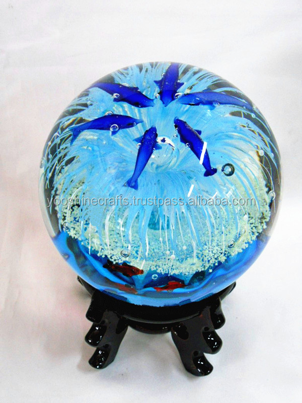 G round glass ball crafts luminous