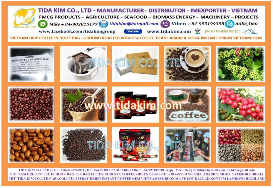 100% Roasted Arabica - Instant Coffee - Oem Manufacturer Tida Kim ...