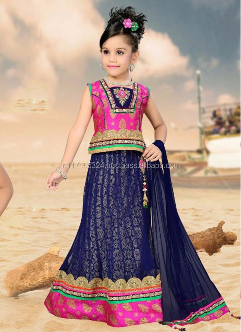 Designer Green Kids Salwar Kameez Surat Style Exclusive Salwar Suits Traditional Indian