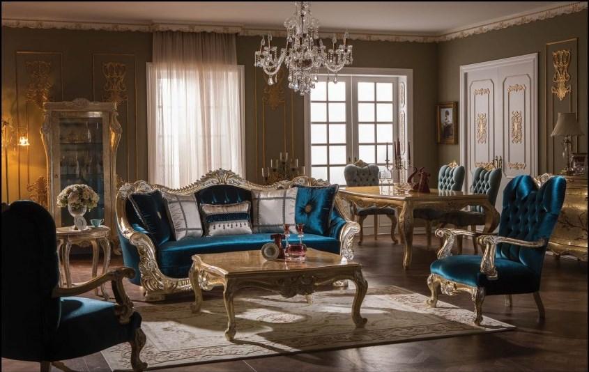 Avangart Ruang Tamu Kalkun Istanbul Buatan Tangan Mewah Untuk Villa