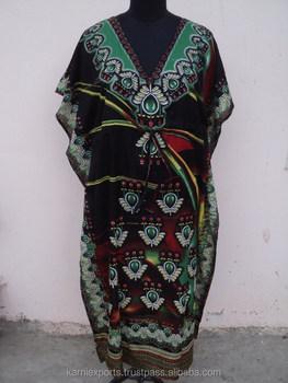 Desainer Desain Baru 2016 Pantai Party Wear Polyester Satin Kain Keren Gaun Kaftan Maxi Gown