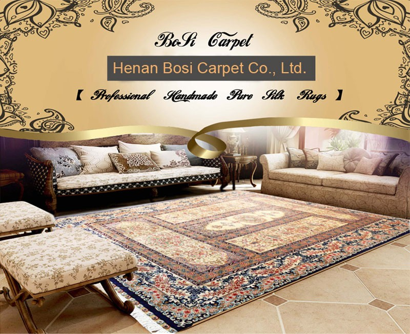 Henan Bosi 4x6ft Luxurious Red Living Room Decorate Rug Handmade Whole India Silk Carpet