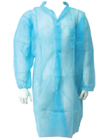 DISPOSABLE NON WOVEN BLUE LONG SURGICAL APRON FROM DUBAI