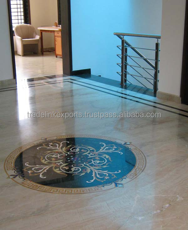 Marble Stone Inlaid Flooring Construction Work Exclusive Home Decor Interiors Inlay