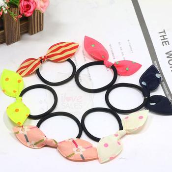 Bunny Bow Elastic Hair Tie 0645c5bc886