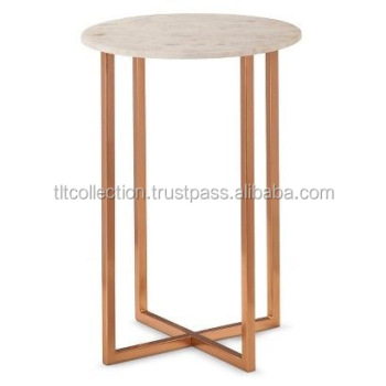 Peachy Copper Side Table With Marble Top On Stool Copper Coffee Table Metal Stool Buy White Marble Top Coffee Table Round Marble Top Coffee Table Cheap Creativecarmelina Interior Chair Design Creativecarmelinacom