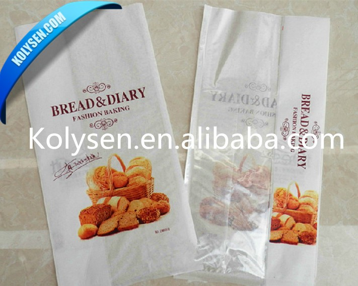 Take away chips paper bag grease proof white bag