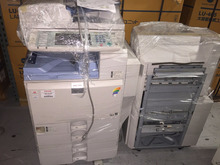 RICOH AFICIO MPC-4000 COLOR COPIER WITH SR-3030 PUNCH VM CARD