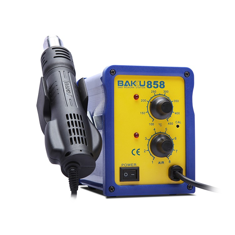 BAKU New Design digital 858 Hot Air SMD 2 in 1 Rework Soldering Station