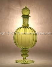 Popular high quality luxury glass bottles manufacturer round perfume glass