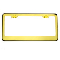 KA DEPOT T304 8k Polish Electrochemical Gold Chrome Stainless Steel License Plate Frame