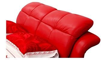 Letto Con Schienale Morbido : Cuoio genuino kingsize schienale alto moderno morbido letto con