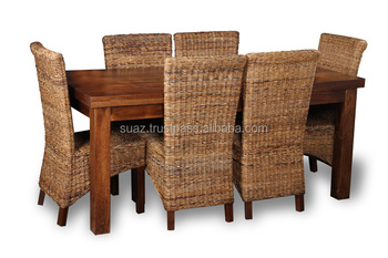 Cane Dining Table , Living Room Furniture , Custom Cane Furniture , Bamboo Dining  Table