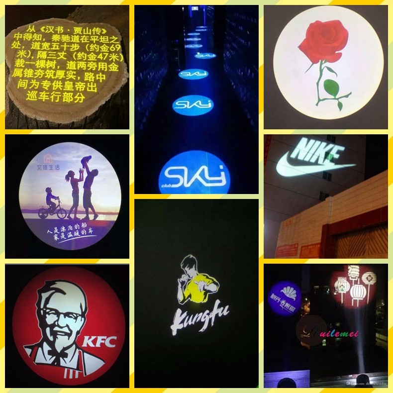 Daya Tinggi 500 W Outdoor Tahan Air Outdoor LED Gobo Logo Proyektor