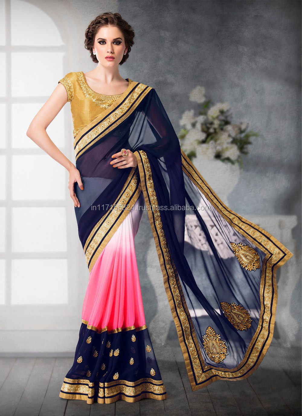 702b890c83bd0 Designer latest indian fancy sarees collection - New style saree blouses -  Saree border lace - Saree design patterns Cwert