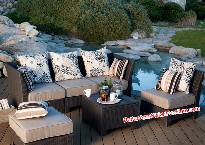 Design unico qualit del sof in rattan sintetico wicker for Design del giardino