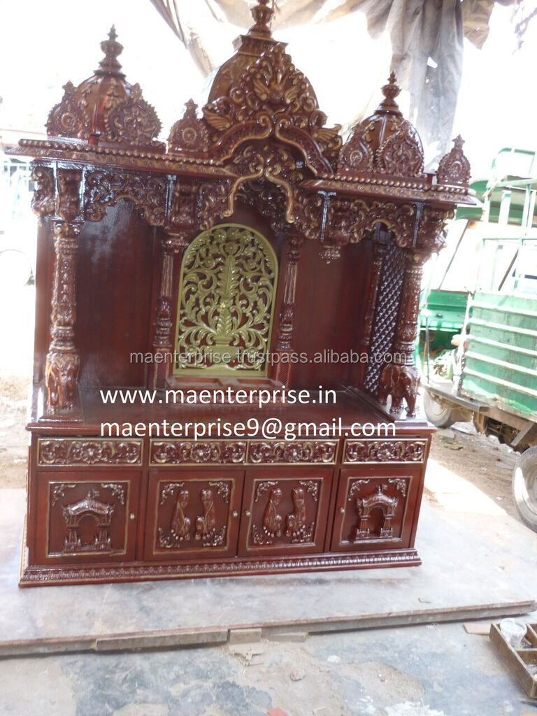 Indian Wooden Home Altar temple