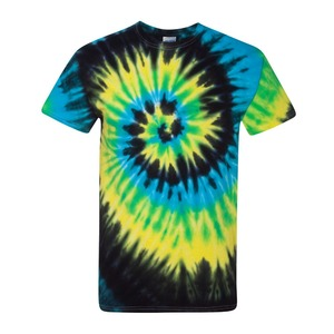 Colorful tie dyed manufacturing t-shirts