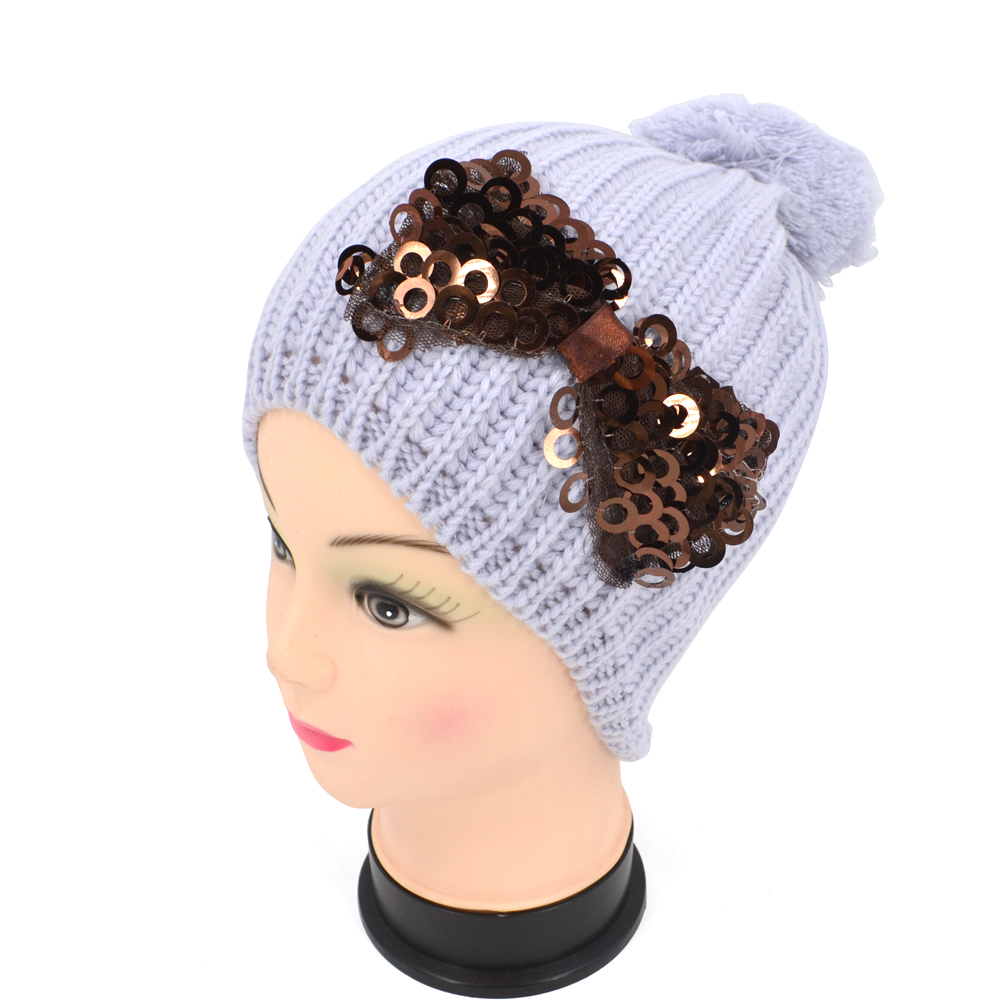 2017 New Winter Warm Women Knitted Wool Beanie Ball Hat