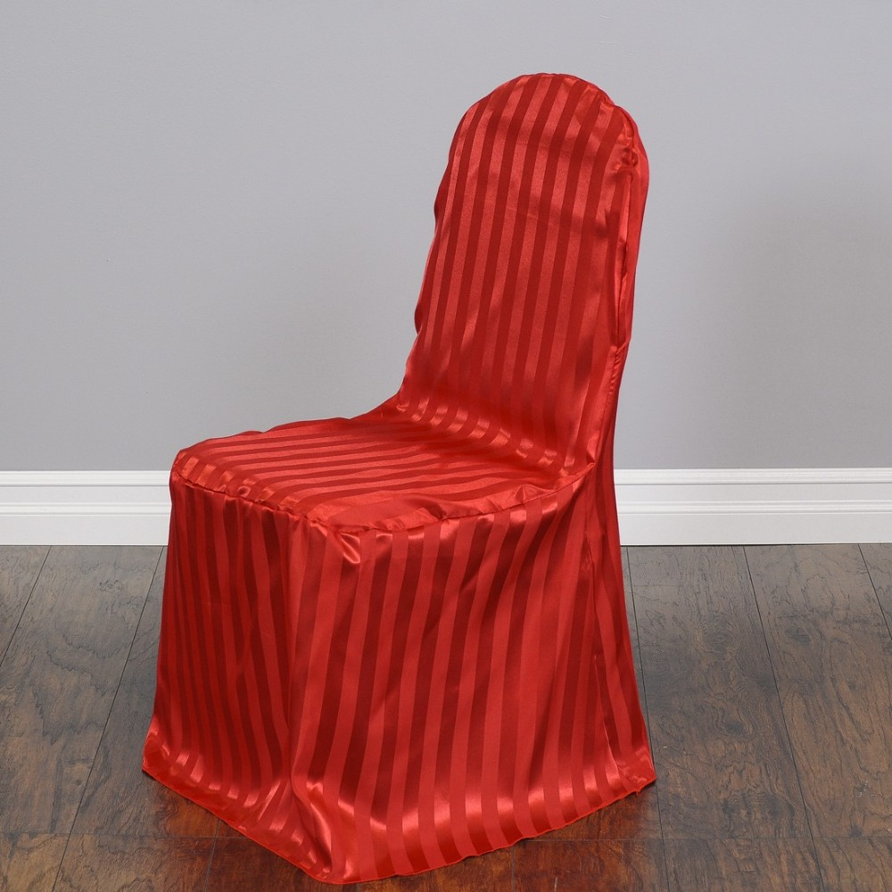 Wholesale Cheap Fancy Striped Satin Banquet Chair Cover