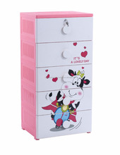 Hot selling plastic baby drawer chest of drawers fashion plastic cabinet