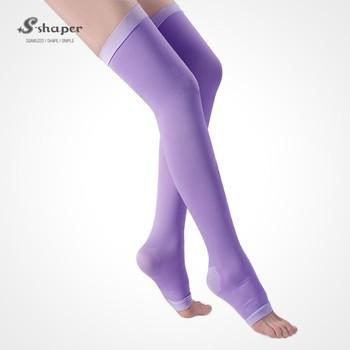 7b225f4e3c0 S-SHAPER OEM Women Sleep Thigh High Socks Sleeping Stockings Elastic  Compress Leggings Slimming Sex