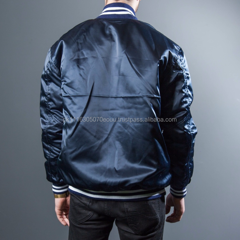 Custom Made Heavy Silk Satin Baseball Jackets - Buy Custom Satin ...