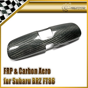 For Subaru BRZ FT86 Dry Carbon Fiber Room Mirror Cover