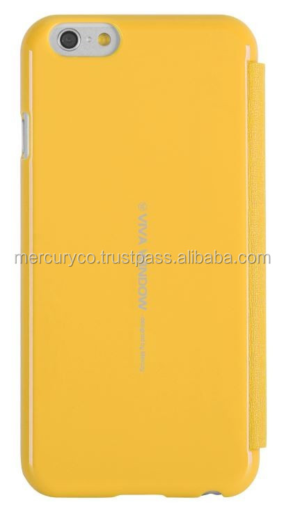 Mercury Viva Window mobile phone flip case (Yellow)