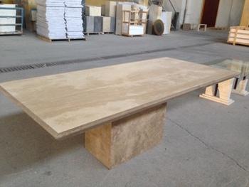 Travertino tavolo da pranzo tavoli di marmo tavolo in pietra