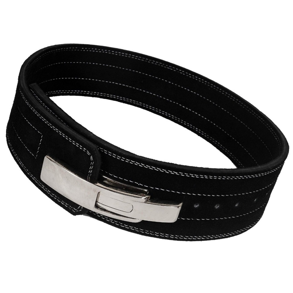 Fitness Lifting Belt: Pro 10mm Lever Leather Weightlifting Belt