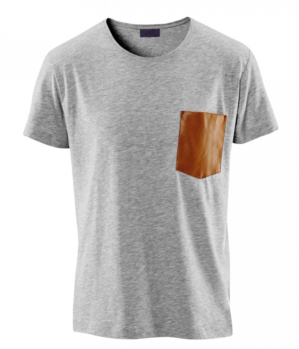 Custom Print T Shirt With Leather Pocket Buy Design Your Own T