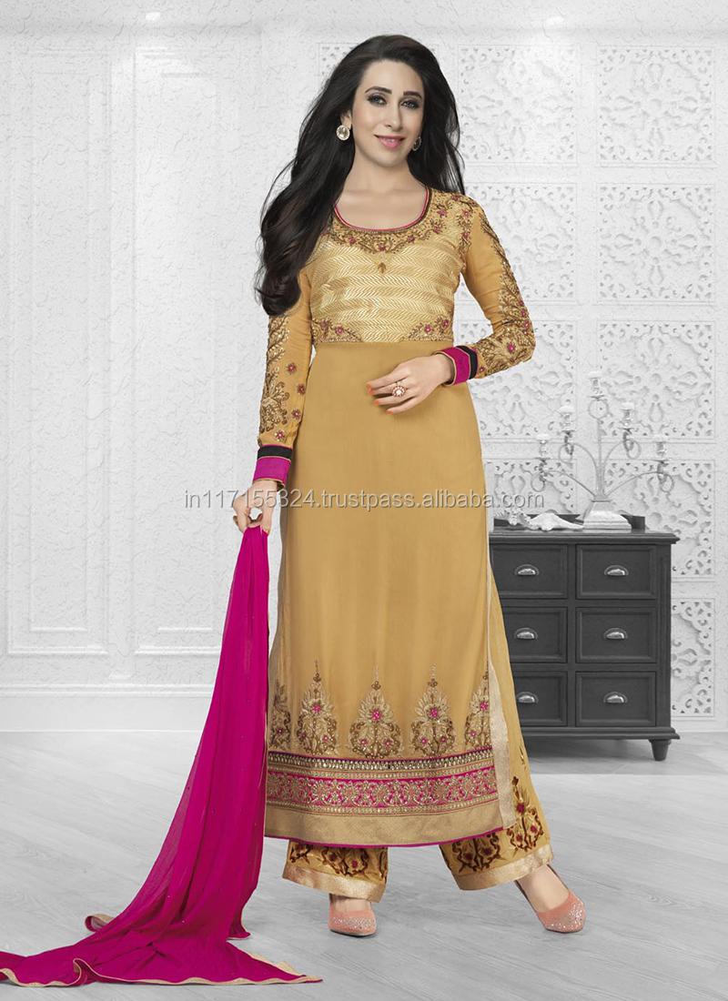 Bollywood Semi Stitched Indian Fashion Straight Salwar Kameez Set ...