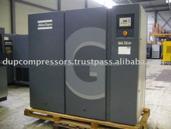 rotary screw compressor atlas copco ga 75 ff buy atlas copco ga 75 rh alibaba com
