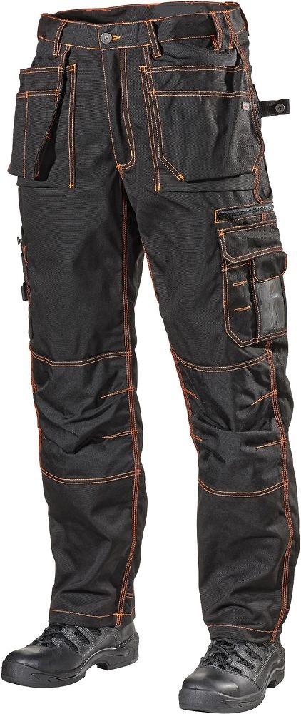 Mens Black Cargo Work Pants With Cordura Knee Pockets,Designed As ...