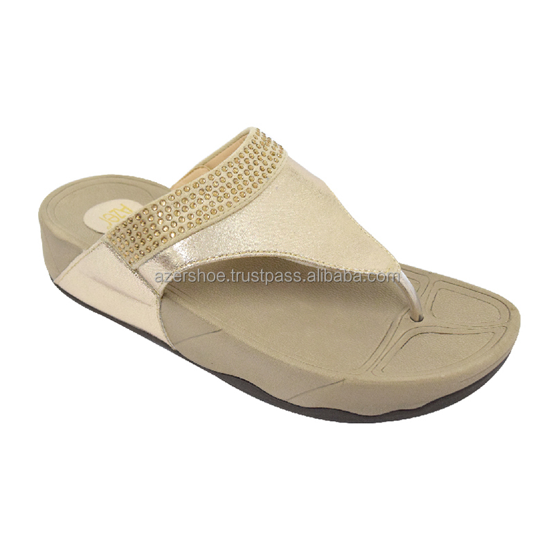 AZER WOMEN'S COMFORT SHOES ONLINE MALAYSIA (90-612 GD) GOLD
