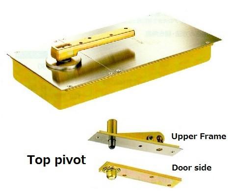 Premium Double Swing Aluminum Door Floor Hinge With 90 Degree Door Stop  Function Made In Japan