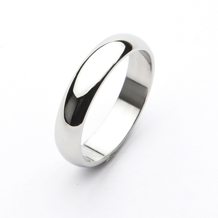 Wholesale Simple Design Fashion White Gold Ring For Men And Women ...