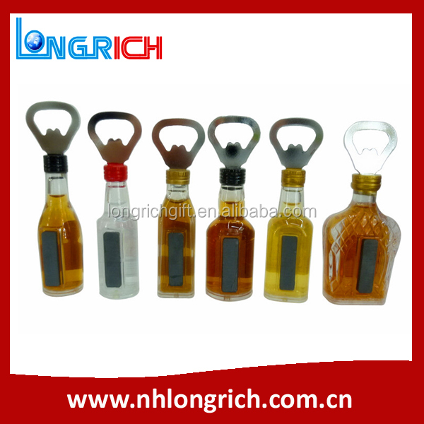 beer bottle shaped bottle opener parts, metal bottle opener for beer