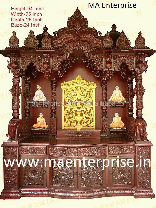 Beautifull Wooden Temple Design For Home Buy Wooden Temple Design For Home Temple Design For Home Mandir Design For Home Product On Alibaba Com