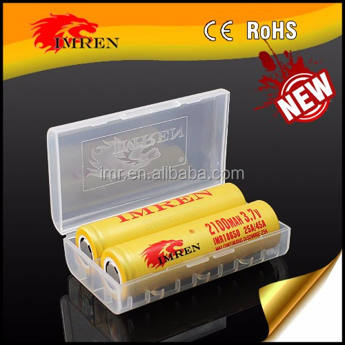 us18650vt battery e cigarette!!! newest imren 18650 2100mah 45A battery 3.7V LiMn Rechargeable batteries
