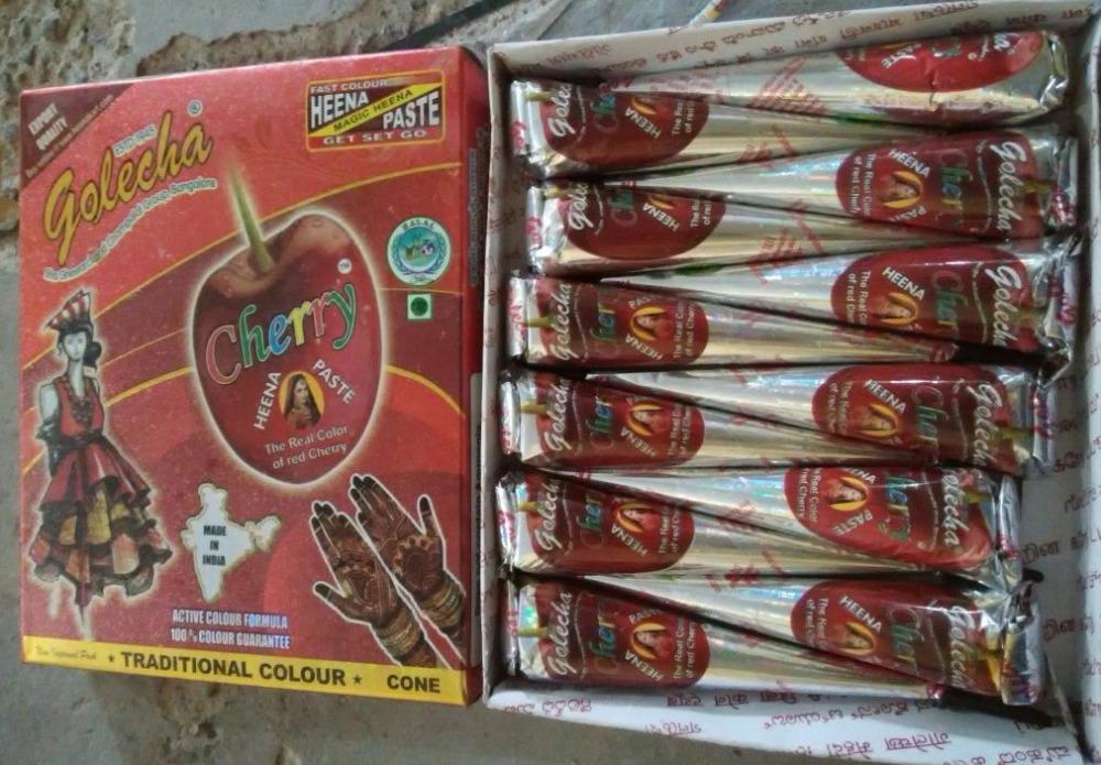 Golecha Cherry Henna Cone Untuk Sementara Tato Buy Cherry Mehendi