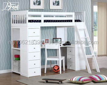 Good quality wooden bunk bed in white single bed loft bunk for Good quality single beds
