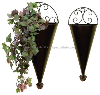 Rustic Metal Wall Planter Decorative Hanging Iron