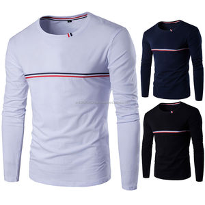 Slim Fit T-shirts with striped lines on The sleeves - High Quality Custom T-shirts